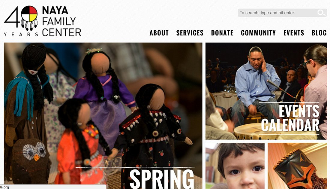 Naya Family Center WordPress nonprofit website example