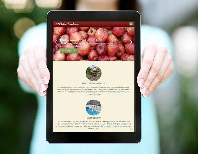 vacation rental website design WordPress Seattle