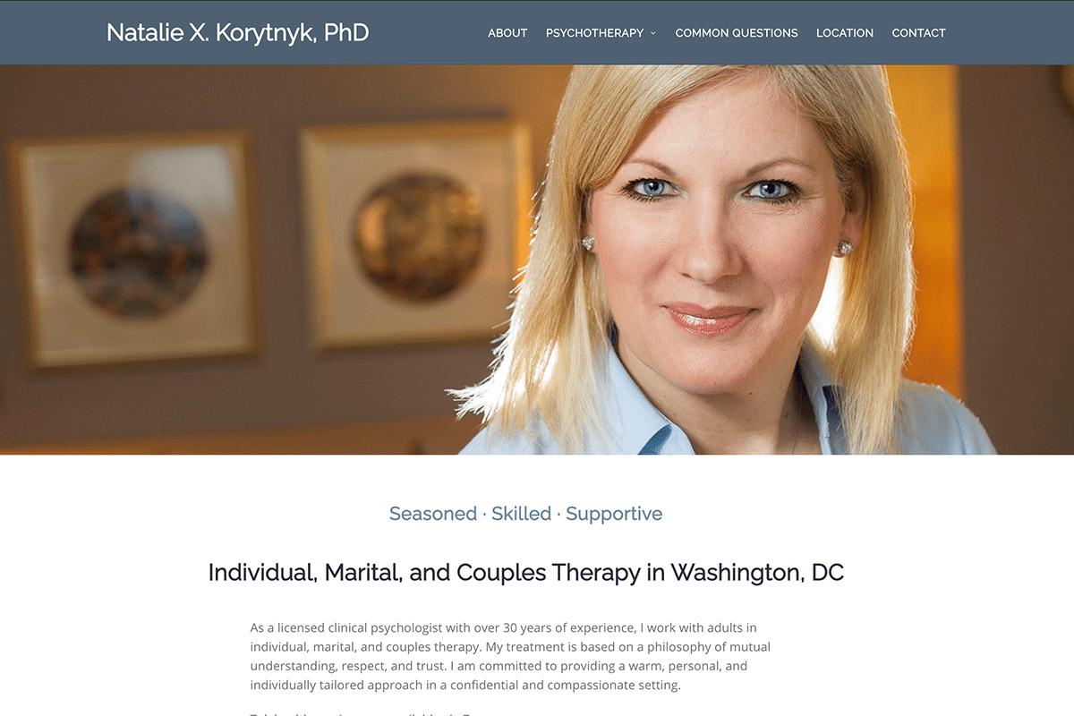 Washington DC therapist Natalie Korytnyk