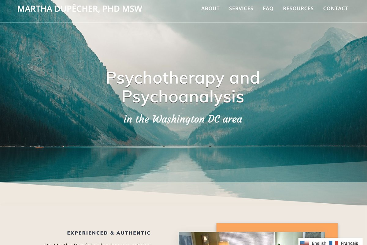 Washington DC French therapist Martha Dupecher, PhD, MSW