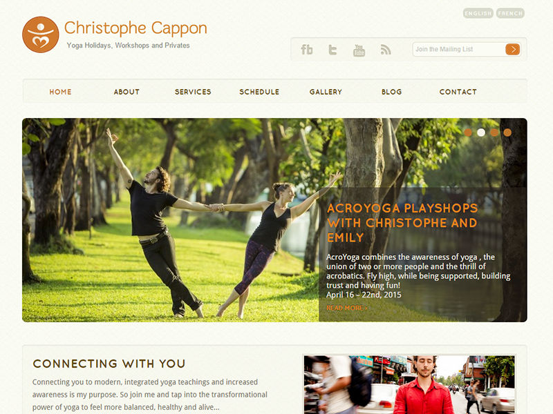 Yoga WordPress website design