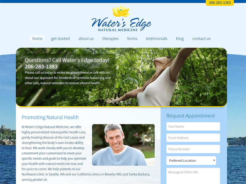 Naturopath WordPress website design