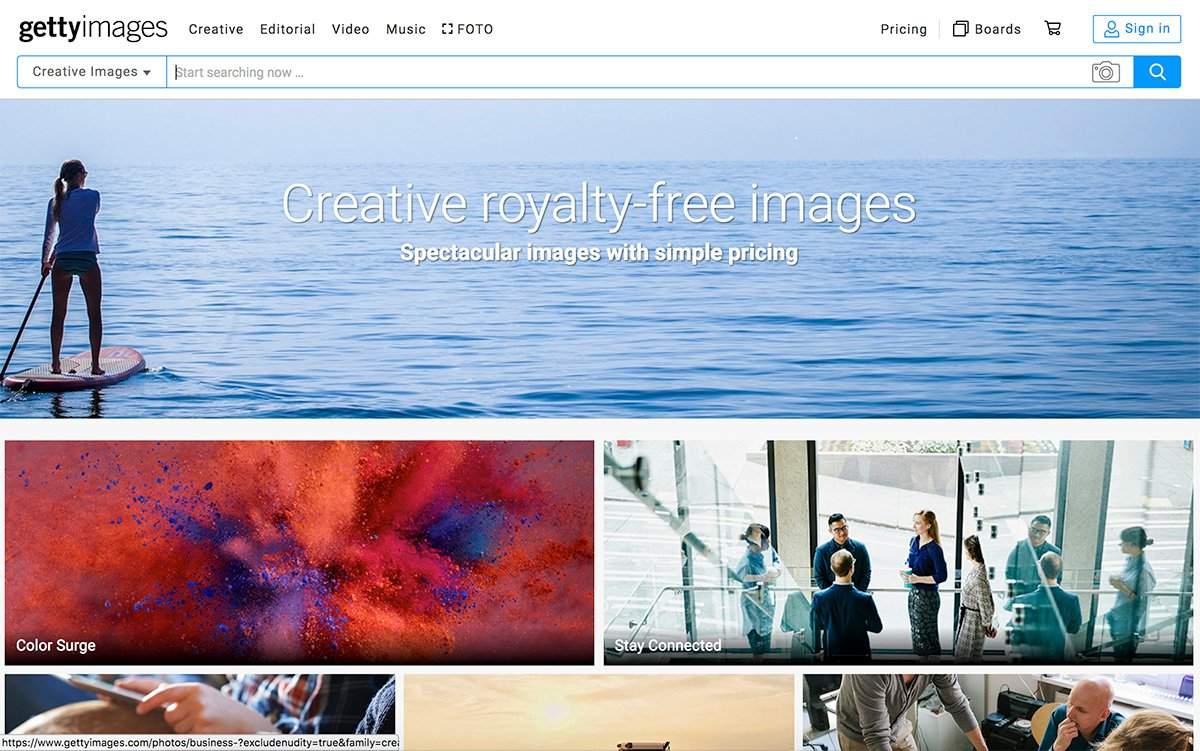 Getty royalty-free images
