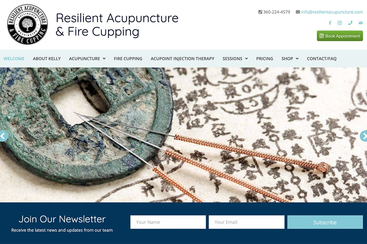 Resilient Acupuncture WordPress design inspiration