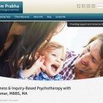 screenshot of WordPress therapist website example